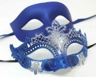 Blue Flick Couples Masks